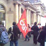 manifestation ANPE devant le Conseil d'Etat
